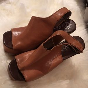 Jeffrey Campbell Shoes - JEFFREY CAMPBELL SNICKERS LEATHER & WOOD WEDGES